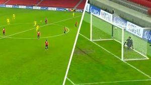 Гол ударом с центра поля: Казахстан забил Албании, разыграв мяч после пропущенного гола (видео)