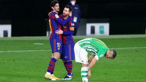 «Барселона» вырвала победу над «Бетисом» благодаря голу Тринкау в конце матча