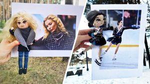 Тутберидзе в пальто Луи Виттон, Медведева-гейша и Загитова в пачке. Болельщица шьет куклы известных фигуристов
