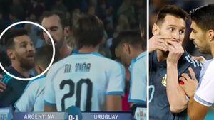 Месси иКавани устроили стычку вовремя матча Аргентина— Уругвай. Стали известны детали конфликта