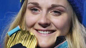 Олимпийская чемпионка Нильссон перешла излыжных гонок вбиатлон. Она известна тем, что учит русский язык