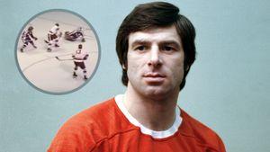 Легендарный гол советского форварда Харламова. Он забил Канаде, пробежав через всю площадку и обманув 2 защитников