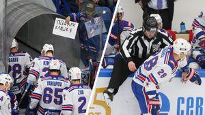 Хоккеисты СКА врезались всудей, получали полицу инезамечали детей. Фото зарубы вПодольске