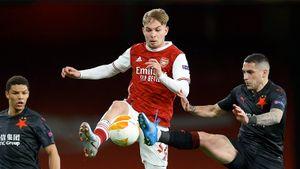 «Арсенал» в добавленное время упустил победу в матче 1/4 финала Лиги Европы со «Славией»