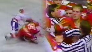 Знаменитая драка противостояния СССР — Канада. 20-летний советский хоккеист Федоров на равных бился с легендой НХЛ