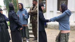 Жена Семака заступилась за монахиню, обвиненную в нападении на Ксению Собчак: видео