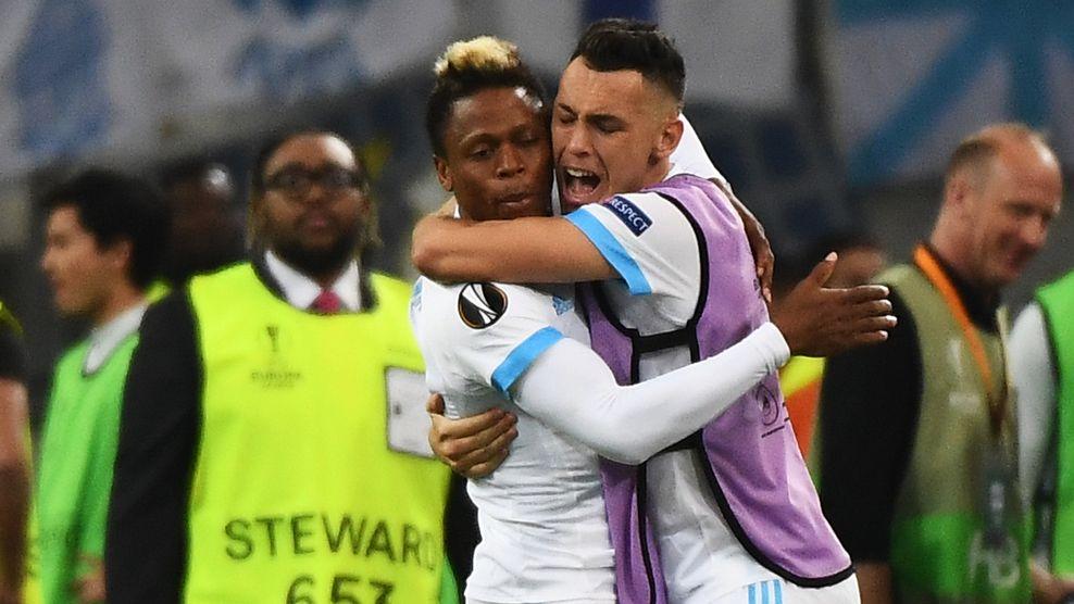 «Марсель» переиграл «Зальцбург» впервом матче ½ финала Лиги Европы