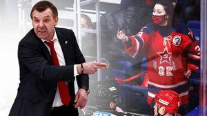 Неприличный жест фанатки ЦСКА в свитере с Харламовым в адрес хоккеиста «Спартака». Огненные фото дерби