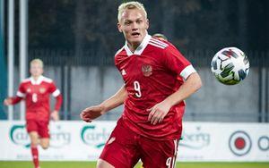 Дубль Тюкавина помог молодежной сборной России разгромить Литву в квалификации Евро-2023