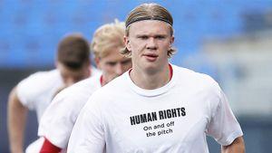 Холанд и другие игроки сборной Норвегии выступили с протестом против проведения ЧМ-2022 в Катаре