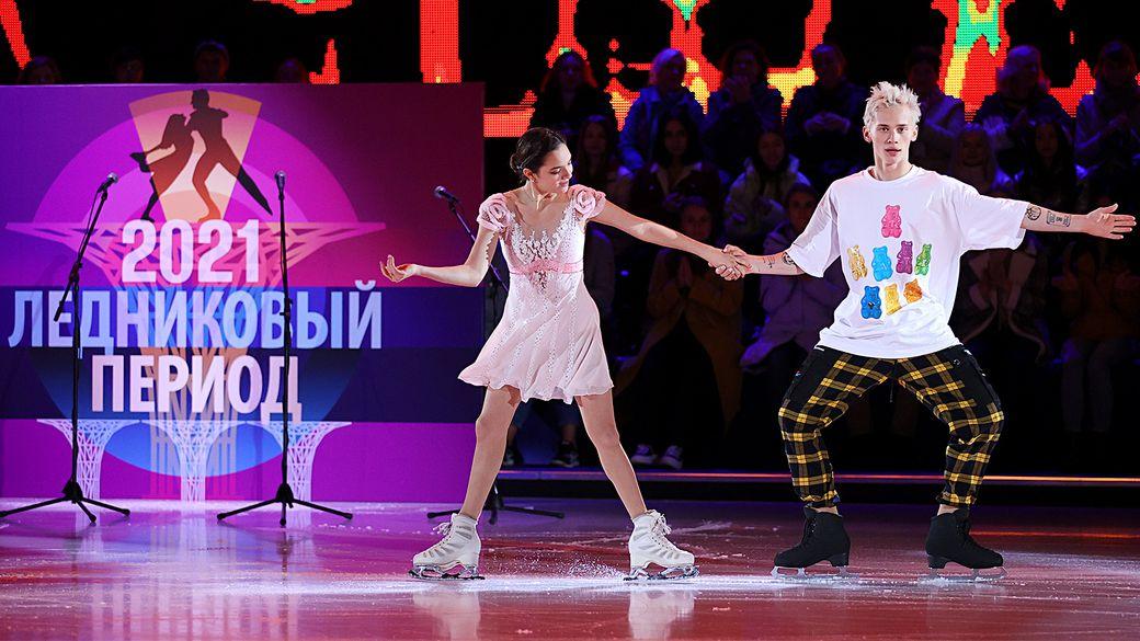 «Будешь ронять— выгонят!» Медведева припугнула тиктокера Милохина после падения на «Ледниковом периоде»