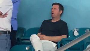 Фанат заснул на стадионе во время Супербоула. Видео с ним стало вирусным в соцсетях