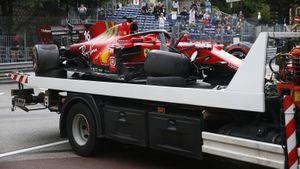 На Гран-при Монако сразу 2 аварии: Леклеру это не помешало выиграть квал, а Шумахер даже не участвовал в ней