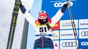 На последних 50 метрах русская лыжница прорвалась на 2-е место на этапе Тур де Ски. Ступак в 2020-м стала мамой
