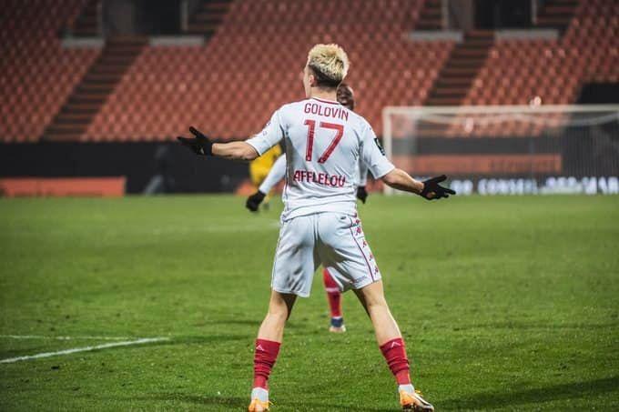 Головин вышел на поле за Монако впервые за 4 месяца и сразу забил гол. Видео