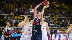 Баскетболистки сборной России уступили Бельгии в четвертьфинале Евробаскета