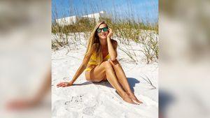 «Хватит издеваться над мужчинами!» Клишина выложила фото вкупальнике спляжа Флориды
