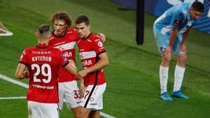 Урунов и Кокорин помогли «Спартаку» разгромить «Родину» в Кубке России. Как это было