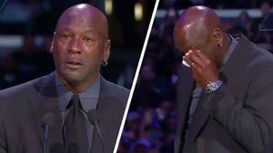 Майкл Джордан расплакался, произнося трогательную речь на церемонии прощания с Коби Брайантом
