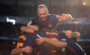 Как «Барселона» отметила победу над «Реалом»