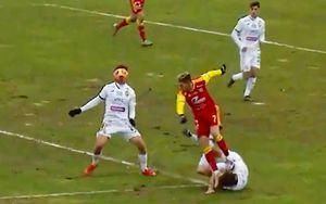 Марио Фернандес получил ушиб в эпизоде с Ломовицким. Футболист «Арсенала» наступил защитнику ЦСКА на голову: видео