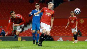 «Манчестер Юнайтед» вырвал победу у «Брайтона», продлив беспроигрышную серию в АПЛ до 10 матчей