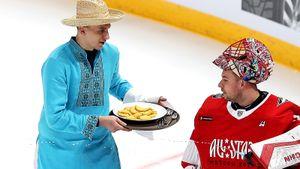 Омский Ведьмак, Грецкий с драниками и Пушкин из Канады. Как звезды КХЛ зажигали в Москве