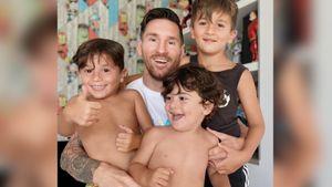 Жена Месси опубликовала милое фото футболиста с сыновьями