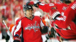 Легендарный гол русского хоккеиста Федорова. Овечкин прыгал как ребенок после его шайбы в 7-м матче с «Рейнджерс»