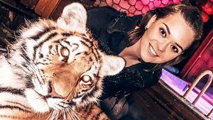 «Влюбилась, хочу тигра». Олимпийская чемпионка Сотникова выложила фото вобнимку схищником