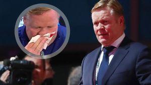 У главного тренера «Барселоны» Кумана пошла кровь из носа на пресс-конференции