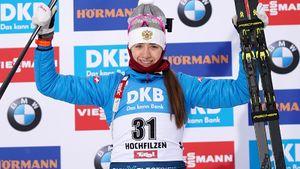 Миронова с промахом выиграла бронзу на Кубке мира. Это первый за три года женский подиум в спринте