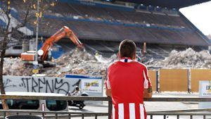 Снос «Висенте Кальдерона»— боль «Атлетико». Там осталась одна трибуна, аскоро будут жилые дома
