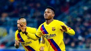 Футболист «Барселоны» стал самым молодым автором гола вистории Лиги чемпионов