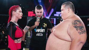 Дикий фрик-бой: мужик весом в 240 кг вышел драться против девушки. Закончилось быстрым нокаутом