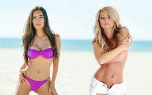 Две девушки, которые украсили турнир UFC в Москве. Они очень горячие