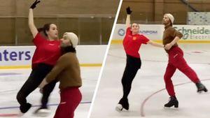 Загитова показала совместную репетицию с Чернышевым спектакля Навки «Руслан и Людмила»: видео