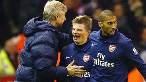 Последнее голевое действие Аршавина в Англии. Андрей помог «Арсеналу» забить молодому Де Хеа: видео