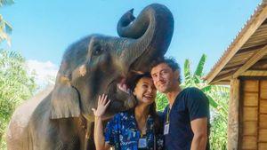 Жена Жиркова показала, как целуется со слоненком: «Это были невероятные чувства»