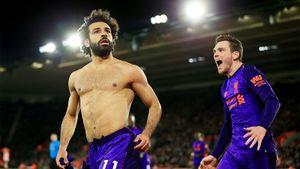 Салах забил победный гол, протащив мяч через полполя. Ивывел «Ливерпуль» напервое место