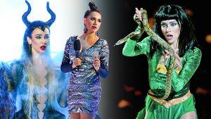 Бузова с рогами, как у Анджелины Джоли, Ягудин с короной Кощея, Тодоренко с живой змеей. Ледниковый период: фото