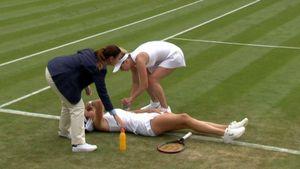 Гаспарян разрыдалась на корте Уимблдона. Она побеждала украинскую звезду, но снялась из-за судорог