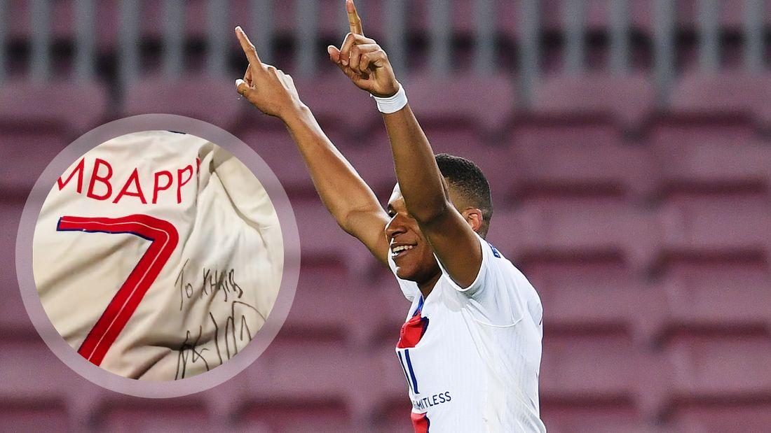 Мбаппе подарил Хабибу футболку после хет-трика в ворота Барселоны в Лиге чемпионов: видео