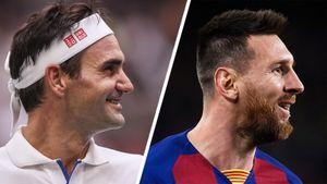 «Слышал, ябольше похож наМесси». Федерера попросили сравнить себя сиконой футбола