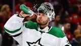 Русский вратарь в 34 года становится героем плей-офф НХЛ. Первый кубковый «сухарь» Худобина остановил «Вегас»