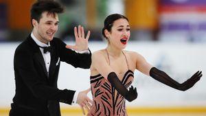 Худайбердиева/Базин выиграли ритм-танец на Кубке России в Сызрани. Это их первый совместный прокат в карьере