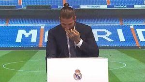 Серхио Рамос заплакал, говоря о своем уходе из «Реала». Видео