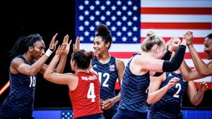 Волейболистки сборной США обыграли Бразилию и в третий раз подряд стали победительницами Лиги наций