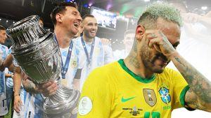 Месси качали на руках, Неймар вытирал слезы. Аргентина— Бразилия: фото