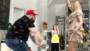 «Пристроил свою на время!» Плющенко нашел себе замену — с его женой станцевал Пухляш из клипа Little Big: видео